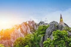 寺庙在Lampang泰国Wat的Prajomklao Rachanusorn旅行地点 库存图片