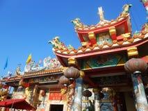寺庙在Nonthaburi,泰国 图库摄影