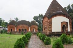 寺庙在Puthia孟加拉国 库存图片