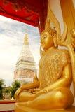 寺庙在Renunakhon Nakhonphanom泰国 免版税图库摄影
