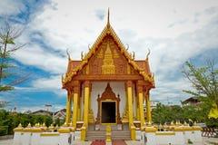 寺庙在Renunakhon Nakhonphanom泰国 库存照片
