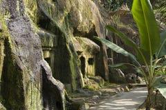 寺庙墙壁在巴厘岛 免版税图库摄影
