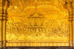 寺庙墙壁纹理, Luangprabang,老挝 库存照片