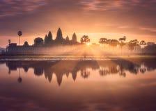 寺庙复杂吴哥窟暹粒,柬埔寨 库存照片