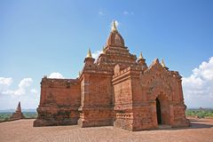 寺庙大厦在Bagan 免版税库存照片