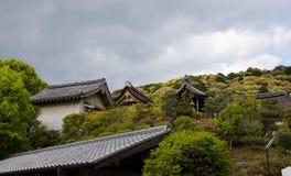 寺庙屋顶日本 免版税库存照片
