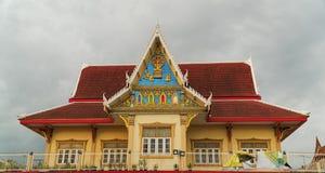 寺庙屋顶样式在泰国 库存照片