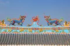 寺庙屋顶细节万象-老挝 库存照片