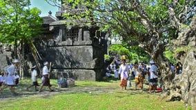寺庙庆祝在巴厘岛,印度尼西亚 免版税库存照片