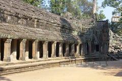 寺庙废墟在吴哥窟暹粒,柬埔寨, 12世纪 库存照片