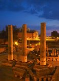 寺庙废墟在波佐利 免版税库存照片