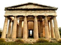 寺庙废墟在雅典 免版税图库摄影