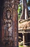 寺庙废墟在吴哥城,柬埔寨 免版税库存照片