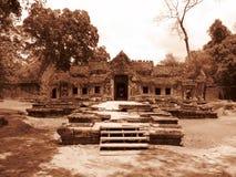 寺庙废墟,柬埔寨。 库存图片
