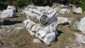 寺庙形象在anxient城市Kyzikos 免版税库存图片