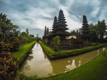 寺庙或塔曼阿云寺在巴厘岛 库存图片