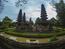 寺庙或塔曼阿云寺在巴厘岛 库存照片