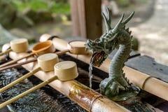 寺庙手洗涤 免版税图库摄影