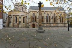 寺庙教会伦敦 库存照片