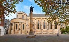寺庙教会在伦敦 免版税库存图片