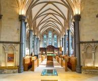 寺庙教会,伦敦内部  免版税图库摄影
