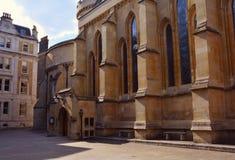 寺庙教会,骑士建造的中世纪教会Templar,伦敦,英国 免版税库存图片