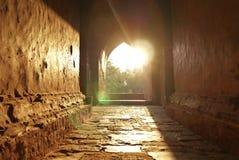 寺庙日落在Bagan,缅甸 免版税库存图片