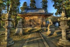 寺庙日落 库存照片