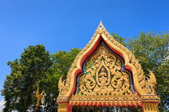 寺庙曲拱  库存图片