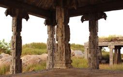 寺庙柱子 库存照片