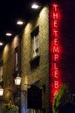 寺庙棒符号。 爱尔兰客栈。 都伯林 库存照片