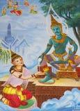 寺庙泰国墙壁 库存图片