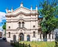 寺庙犹太教堂在克拉科夫,波兰 免版税库存照片