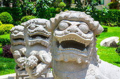 寺庙狮子 库存图片