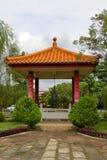 寺庙的中国庭院 库存照片