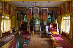 寺庙的内部在塔石陵村庄,尼泊尔 库存图片
