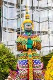 寺庙的古老监护人在泰国 免版税图库摄影
