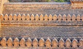寺庙的墙壁在Bagan,缅甸 图库摄影