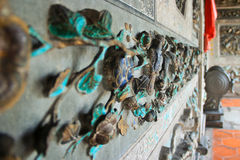 寺庙的外部装饰品 库存照片
