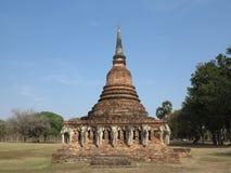 寺庙的废墟在历史公园 免版税库存图片