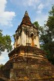 寺庙的废墟在历史记录的停放, Sukhothai 库存照片