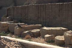 寺庙的废墟在Dendera的 库存图片