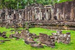 寺庙的废墟,吴哥窟,柬埔寨 免版税库存图片