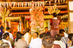 寺庙的捐赠 免版税库存照片