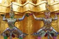 寺庙的监护人 免版税库存图片
