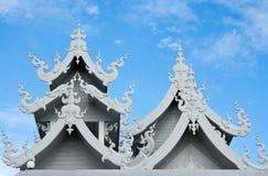 寺庙的美丽的屋顶在泰国 库存图片