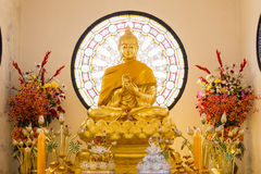 寺庙的美丽的菩萨 库存照片