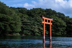 寺庙的老和不可思议的日本门 库存图片