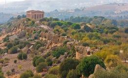 寺庙的谷,阿哥里根托,西西里岛,意大利 库存照片