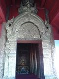 寺庙的门在泰国 免版税图库摄影